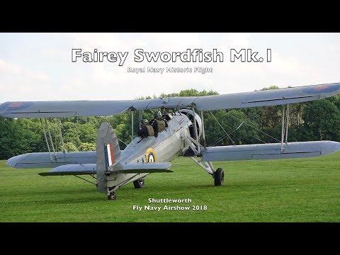 Fairey Swordfish - Shuttleworth Fly Navy Airshow 2018