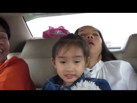 Beautiful Thai Girl sleeping in car on trip to Pattaya - พัทยา