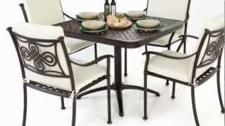 4 Seater Folding Square Table Set With Full Length Cushions