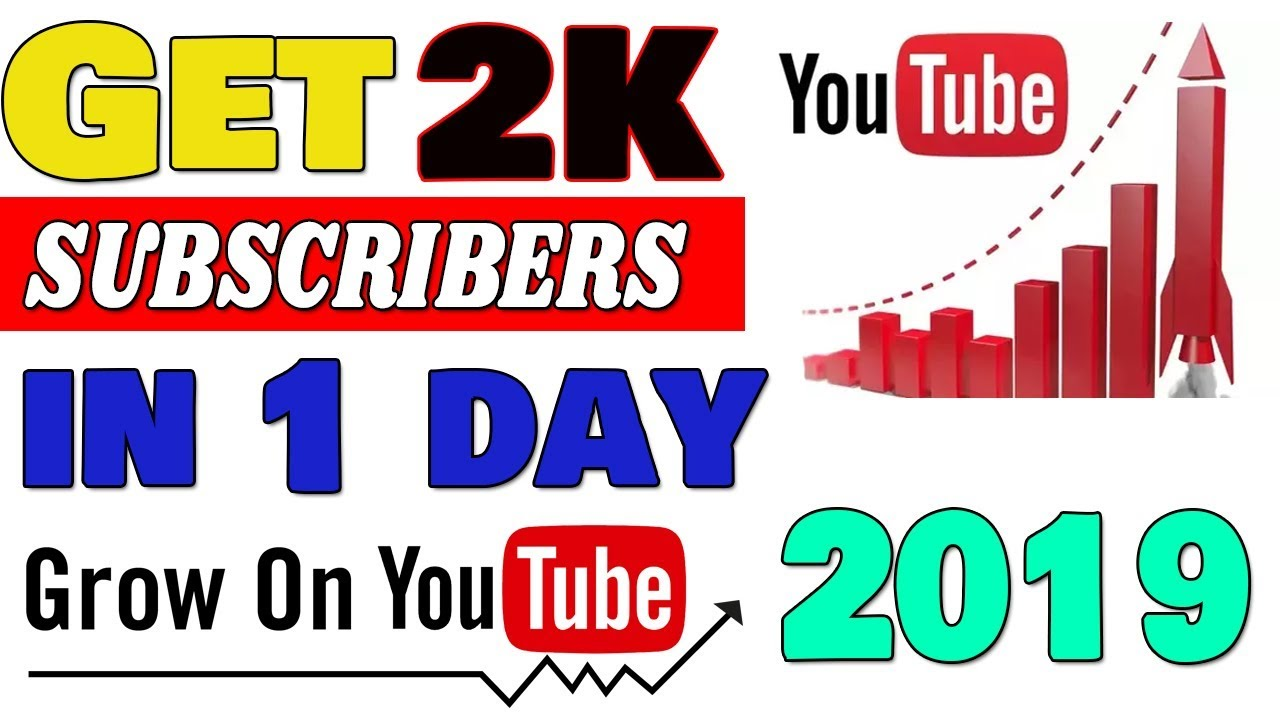 How to Get subscribers on YOUTUBE fast in 2019    Get 10000 views