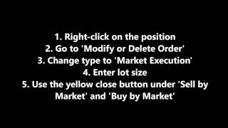 How to Close Part-Positions on MT4 - Closing Partial Trades on MetaTrader