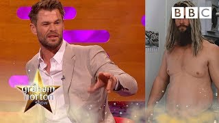 The truth about Chris Hemsworths Thor fat suit  The Graham Norton Show - BBC