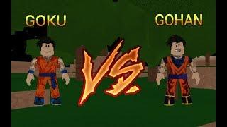 roblox-dragon ball rage: gohan vs goku (loquendo)