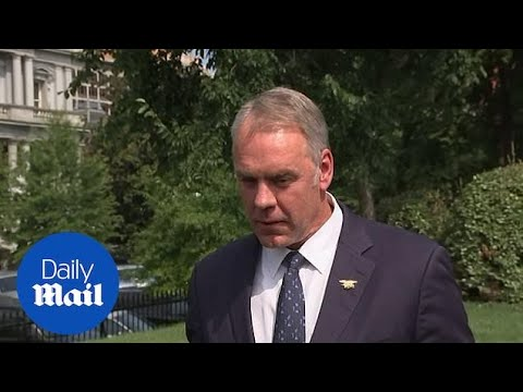 Trumps says Secretary of Interior Ryan Zinke will leave
