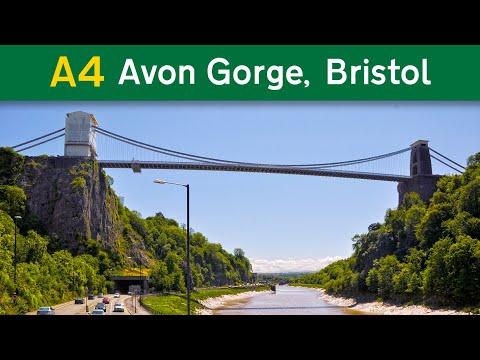 A4 Portway, Bristol - Avonmouth (view of Clifton Suspension Bridge)