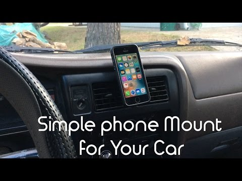 Simple Way to Mount a Phone to your car. DIY hack.