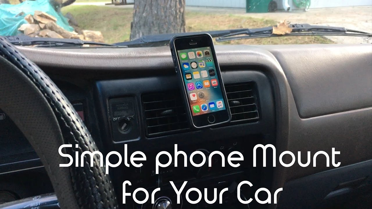 simple way to mount a phone to your car diy hack youtube. Black Bedroom Furniture Sets. Home Design Ideas
