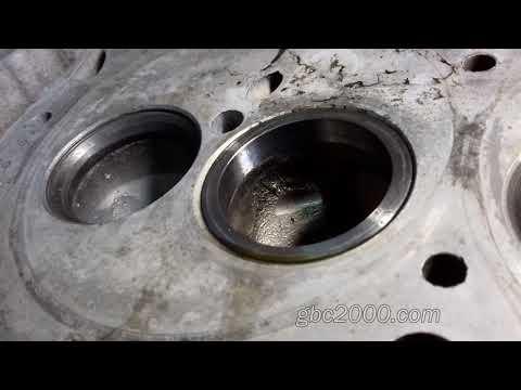 Правильная запрессовка седла клапана инструменты оправки нюансы ремонт ГБЦ пример Mercedes-Benz 2,9