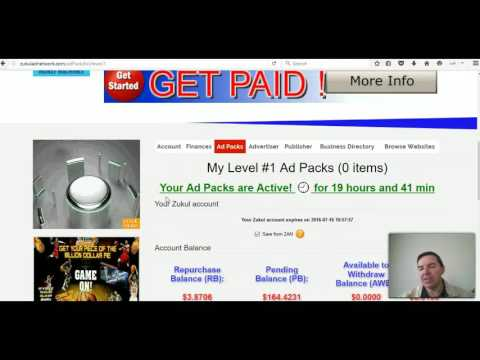Zukul Ad Network how to buy ad packs in ZAN with earnings balance