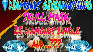 💎 DIAMOND GIVEAWAY INFO SKULL MASK + NINJA SUIT + 25 DIAMONDS