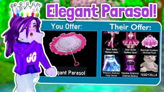 What People TRADE For The ELEGANT PARASOL! Roblox Royale High Trading