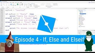 If Statements - (Ep 4) Lua Scripting Tutorial for Roblox Game Dev