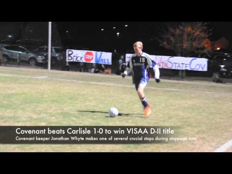 Covenant beats Carlisle 1-0 in VISAA DII boys soccer title game