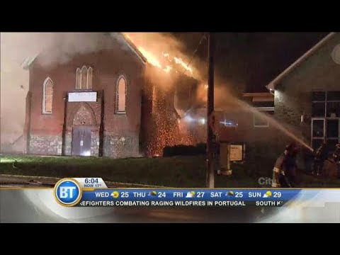 Fire causes major damage at Burlington church