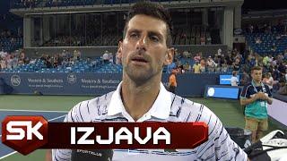 Izjava Novaka Đokovića Posle Plasmana u Četvrtfinale u Sinsinatiju   SPORT KLUB Tenis