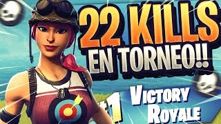 22 KILLS SOLO POP UP CUP!! JUGANDO AGRESIVO en el MODO TORNEO!! | Fortnite | Rubinho vlc
