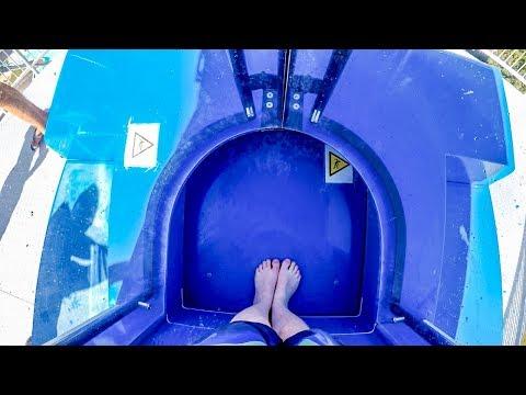 Aqua Centrum Cegléd - Dragon [NEW 2017] AquaLoop Looping Water Slide Onride POV