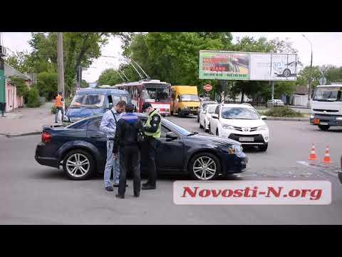 Новости-N: На перекресте в Николаеве столкнулись «Додж» и «Ниссан»: движение затрудненно