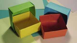 КОРОБОЧКА - ОРИГАМИ Своими Руками из Бумаги для Начинающих. Видео(Оригинальная коробочка - оригами. Делается быстро и легко. Очень крепкая, хотя для ее изготовления не исполь..., 2015-01-19T09:21:01.000Z)