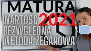 MATURA 2021 MATEMATYKA ROZSZERZONA Nierówności z wartością bezwzględną, metoda zegarowa