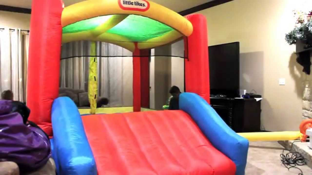 Little Tikes Shady Jumpu0027n Slide Bouncer   It Fit   Assembly Required    YouTube