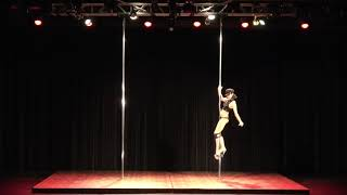 2018 US Pole Dance Championship Novice Level 1 Sexy Division - JillAnne