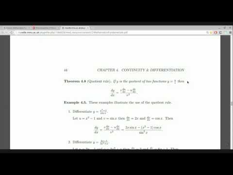 More properties of the derivative