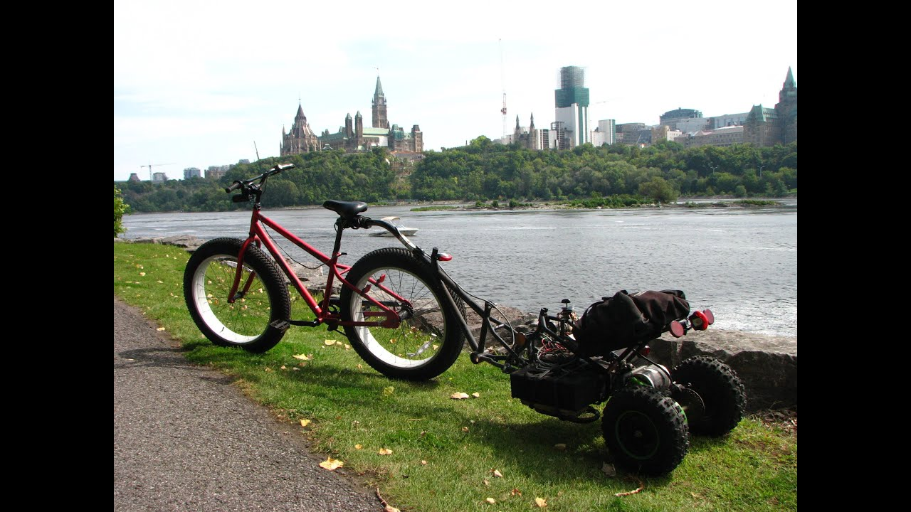 Electric Bicycle Trailer Touring