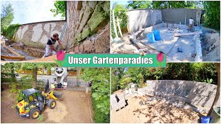 Garten Update 🌳 Hochbeet bauen & Mauer verputzen | Betonmischer | Folge 3 | Isabeau