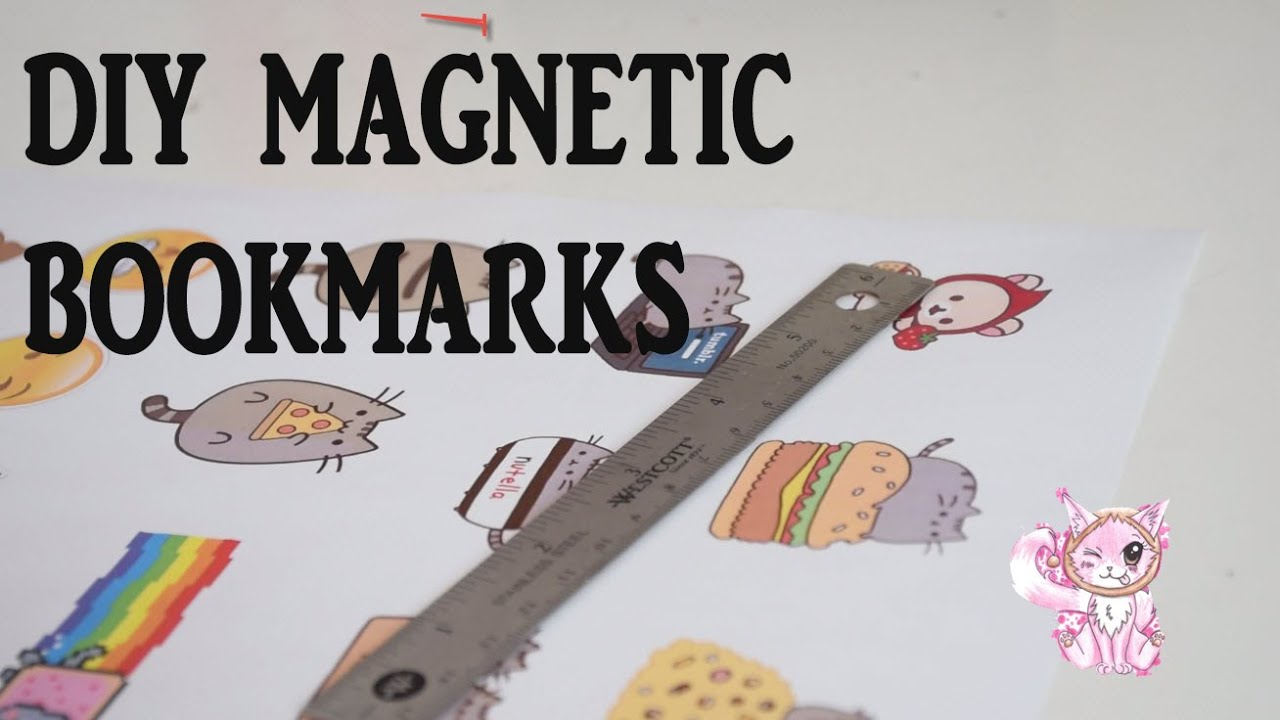 Diy kawaii cute and easy magnetic bookmarks youtube for Diy bookmarks for guys