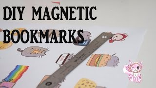 DIY kawaii cute and easy magnetic bookmarks!