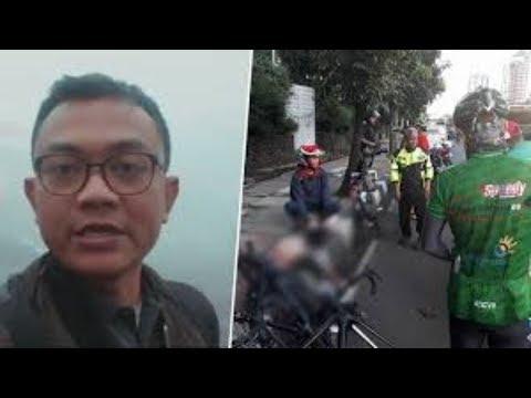 Produser RTV Meregang Nyawa Ditabrak Mobil saat Bersepeda di Jalan Gatot Subroto
