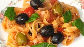 Итальянский томатный соус с оливками (веган)