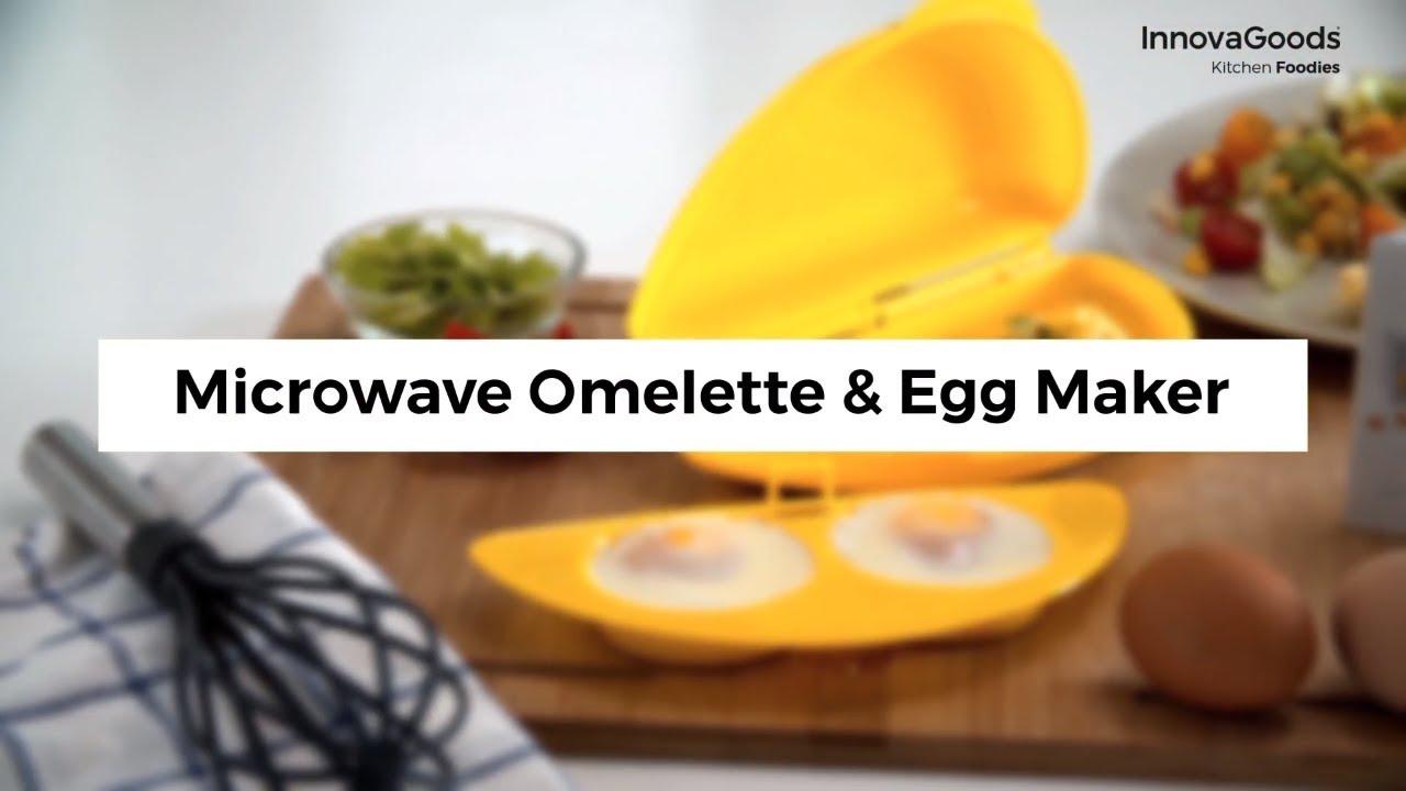 innovagoods kitchen foodies microwave omelette egg maker