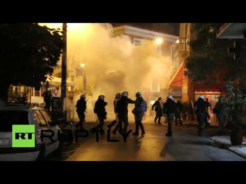Greece: See protesters CLASH with police near US Embassy