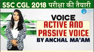 SSC CGL   Voice (Active \u0026 Passive Voice)  Engllish   Anchal mam