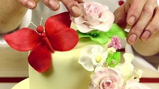 Как создать изящный букет на торте?