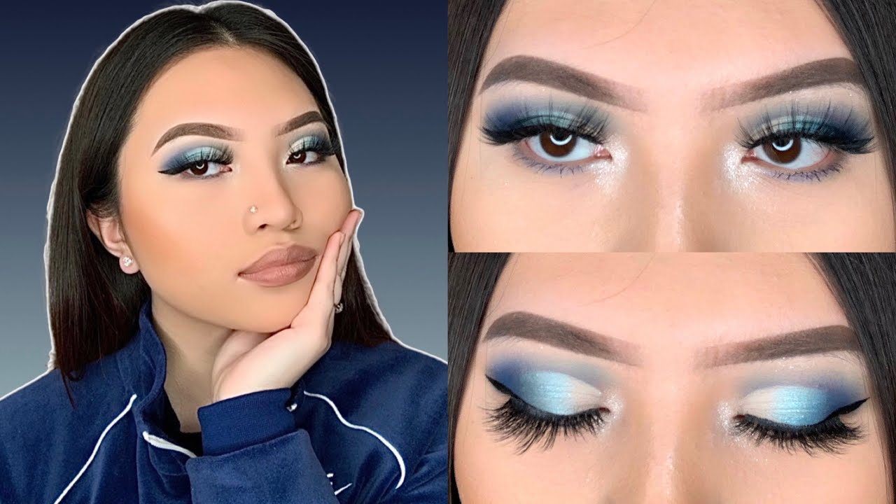 BLUE CUT CREASE TUTORIAL | MORPHE X JAMES CHARLES PALETTE