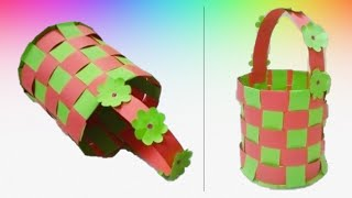 Paper Basket with Handle -Very easy