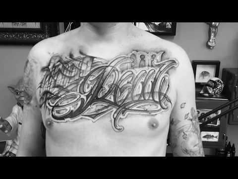 "Татуировка в стиле ""Lettering"", тату-студия  Mad Fish Tattoo Мастер Станислав Громов"
