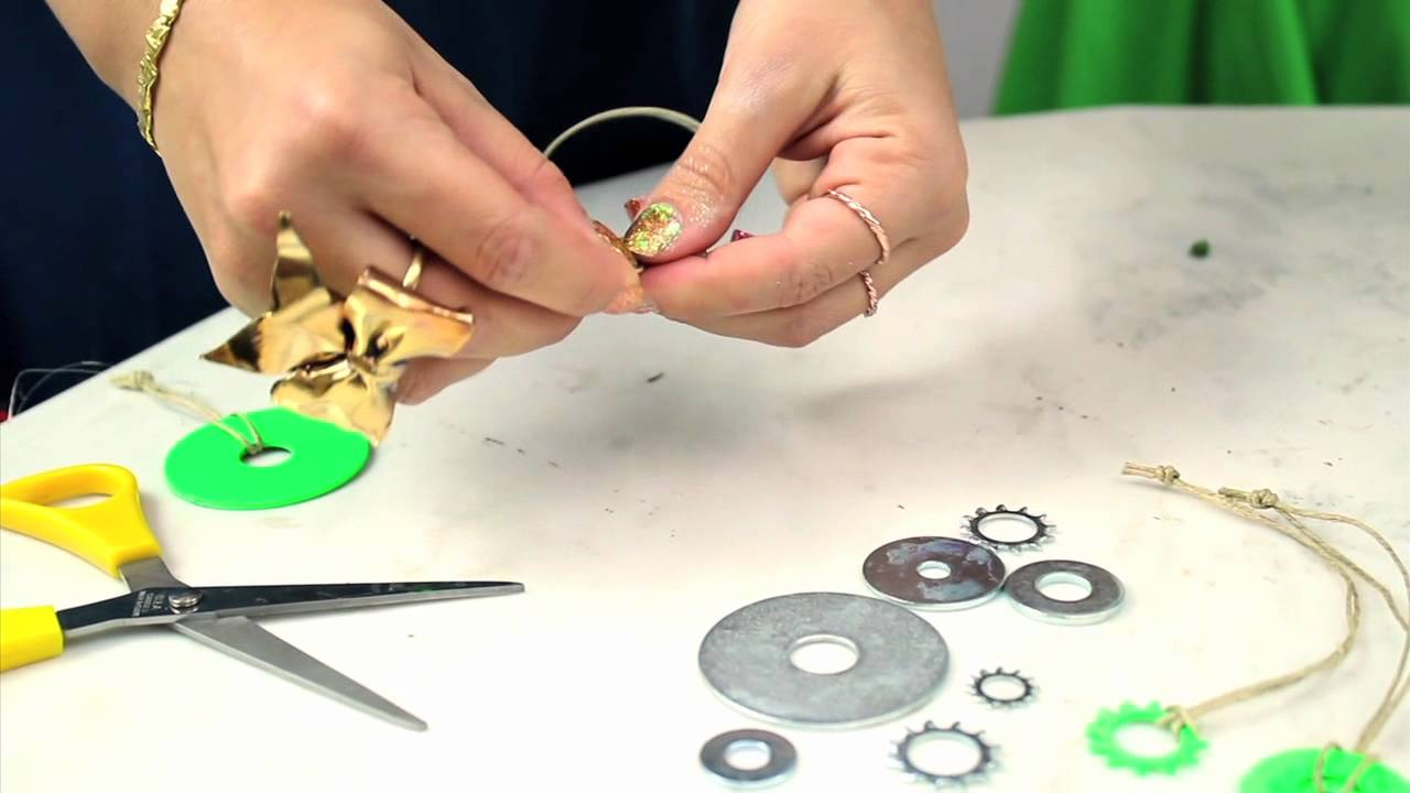 Holiday Tutorial 2 Hardware Ornaments - Mr. Kate's 12 DIYs of the Holidays