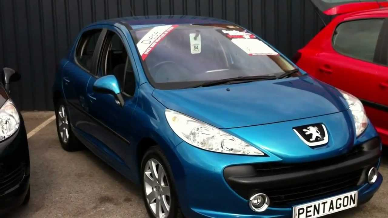 2007 07 plate peugeot 207 1 6 hdi 90 sport 5dr blue. Black Bedroom Furniture Sets. Home Design Ideas