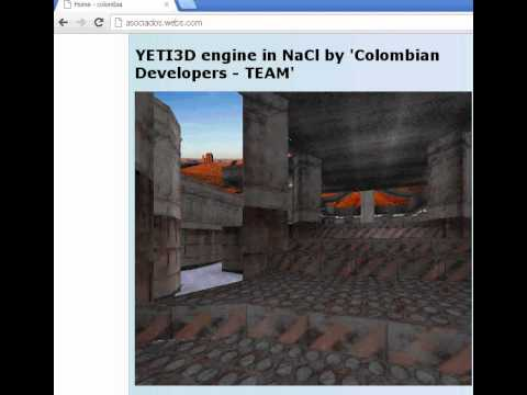 YETI3D engine - running in Chrome Native Client