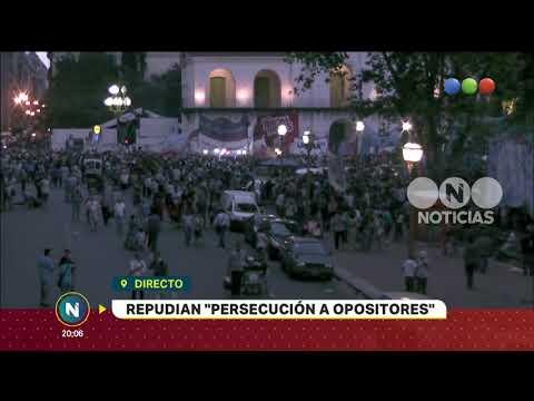 Marcha a Plaza de Mayo - Telefe Noticias
