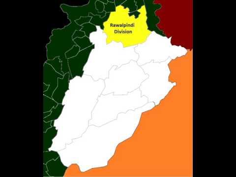 Map of post-2008 Rawalpindi Division
