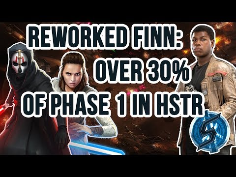 FINN REWORK: 15 million damage in phase 1, 200k+ crits | SWGoH - Heroic Sith Raid
