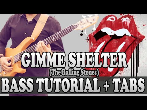Gimme Shelter - Bass TUTORIAL (with tabs) - The Rolling Stones