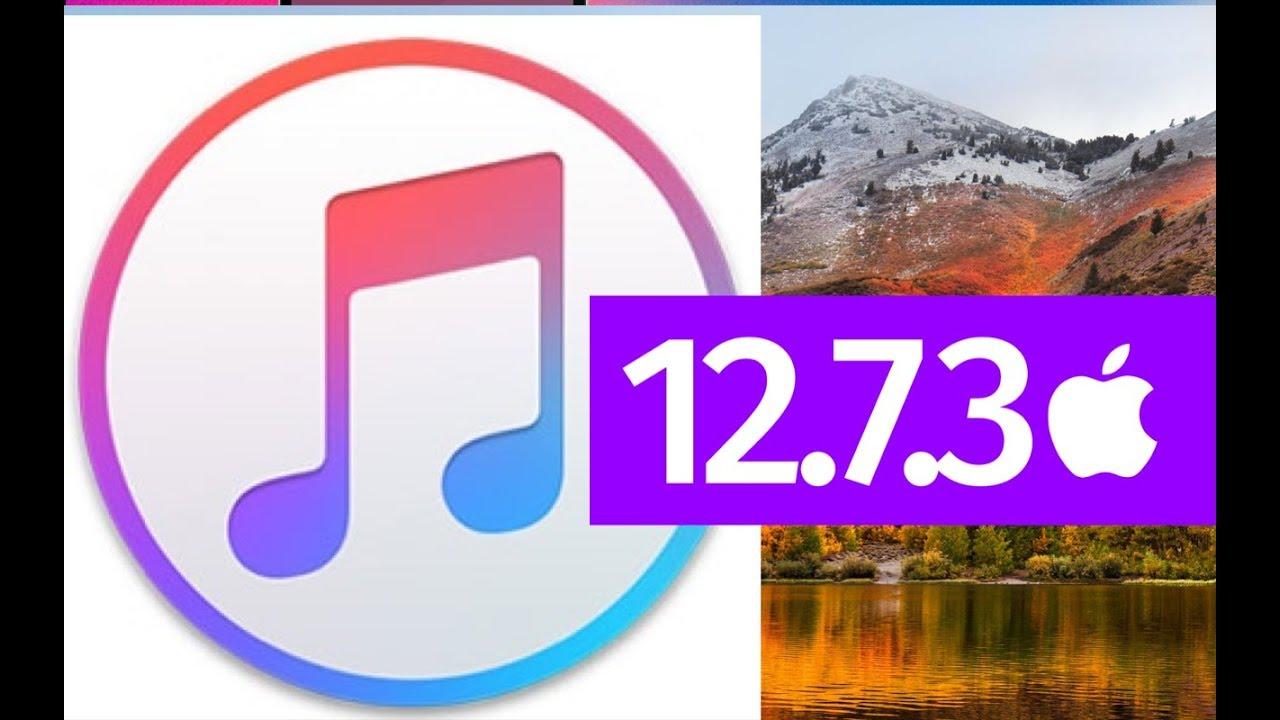 itunes 12.7.3 pour mac