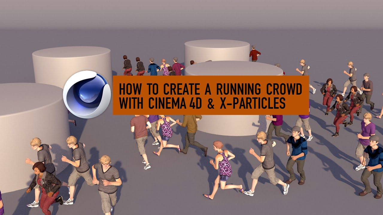 How to Create a Running Crowd with Cinema 4D, Mixamo & X