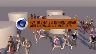 how to create a running crowd with cinema 4d x particles